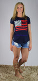 Navy American Flag T-Shirt
