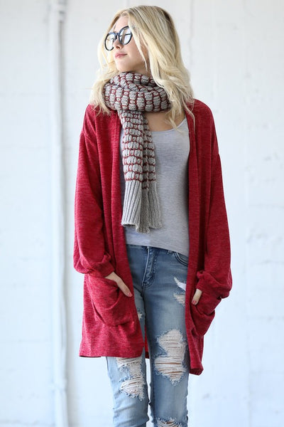 Front Pocket Casual Cardigan
