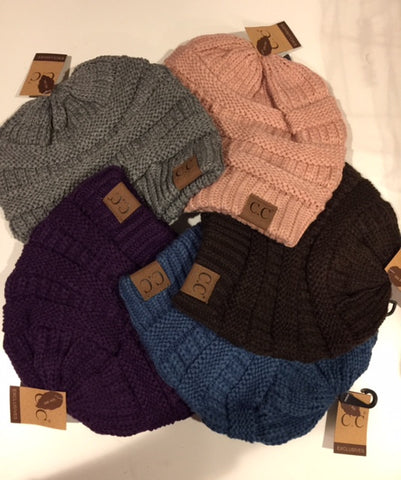 CC Brand Knitted Beanie Hat
