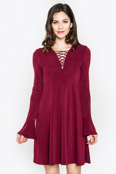 Keira Lace-Up Dress