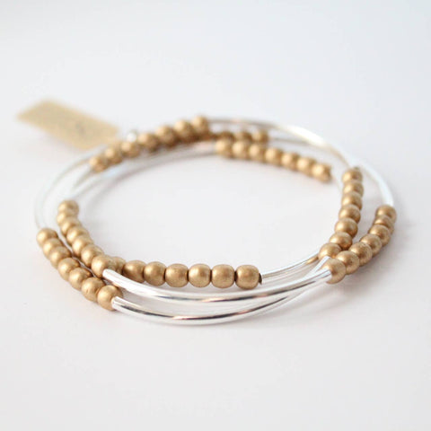 Triple Wrap Bracelet Collection (Silver and Gold RD)