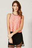 Neon Tweed Tank Top