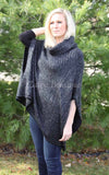 Black Two Tone Poncho