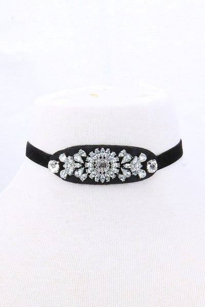 Black gemstone Vintage Choker