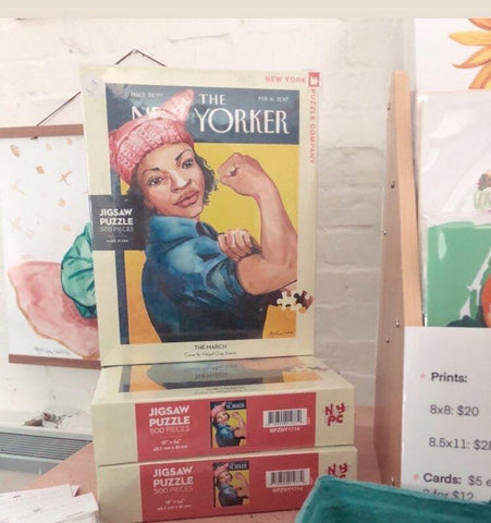 The New Yorker Puzzle, The Women's March, illustrated magazine cover