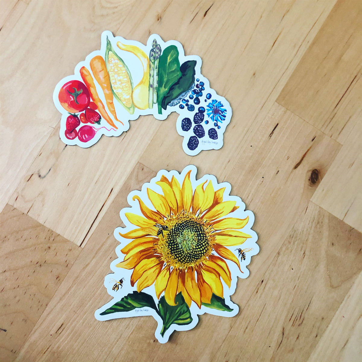 Pollinator Parade, sunflower, floral MAGNET - Stickers & Magnets