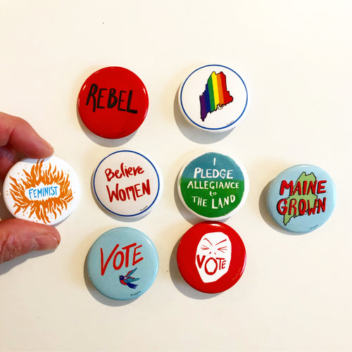 Scream Vote pin, political activist Swag, pin- Pins