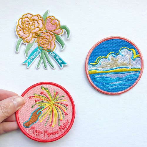 Trio of Patches, collect the set- patch