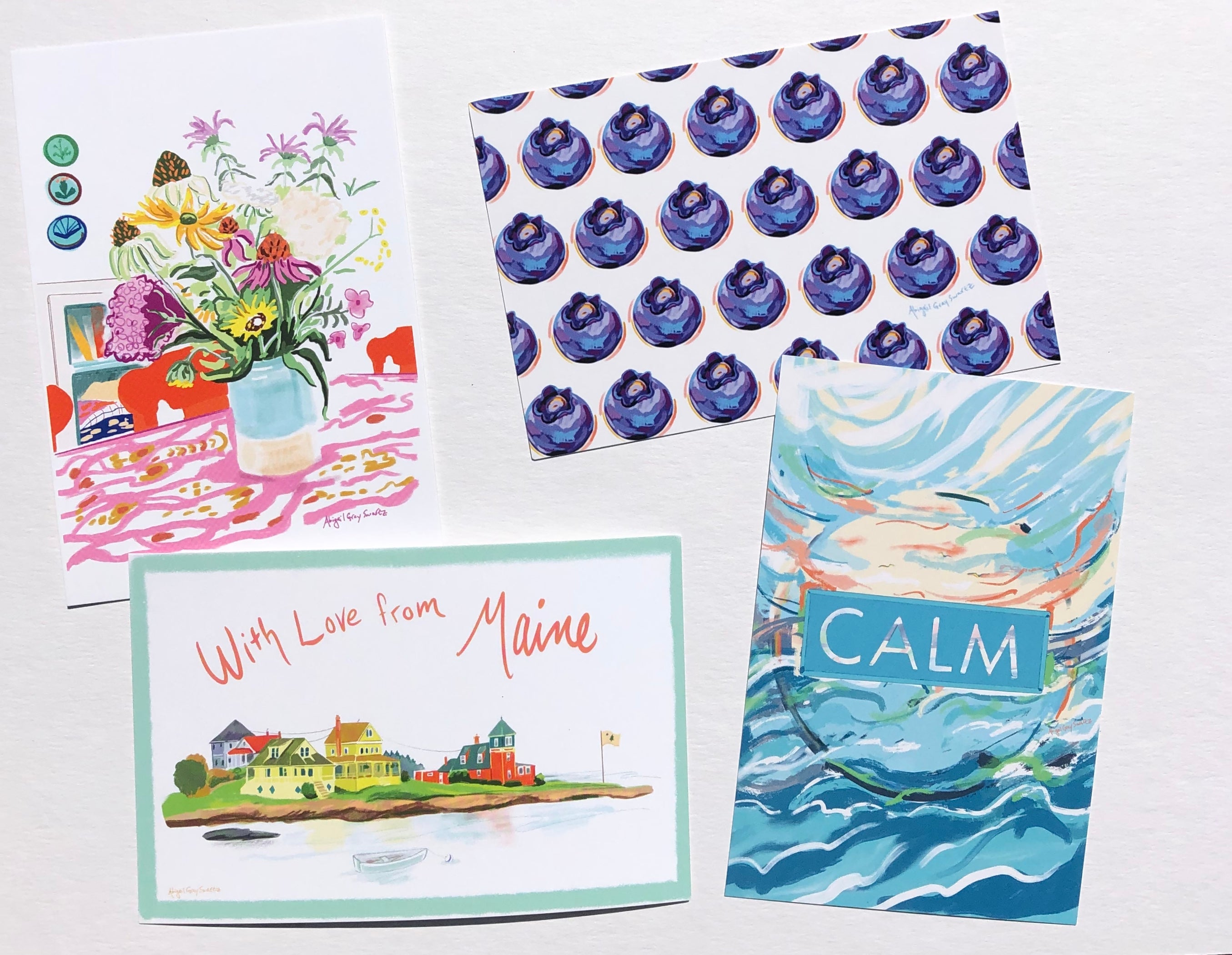 Calm postcard --Greeting Card