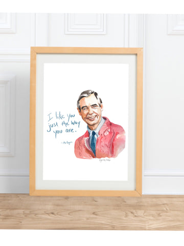 Barack Obama || Portrait and inspirational quote--Print