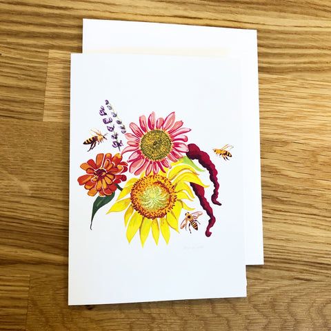 Garden Gloves--Greeting Card
