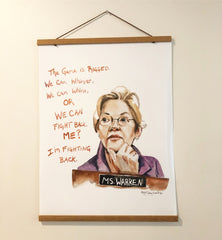 Elizabeth Warren, inspiring quote, large poster--Print