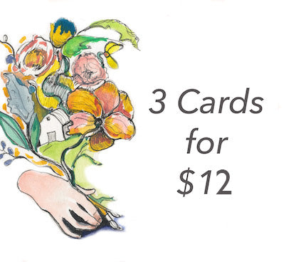 Set of 3 cards for $12--Greeting Card