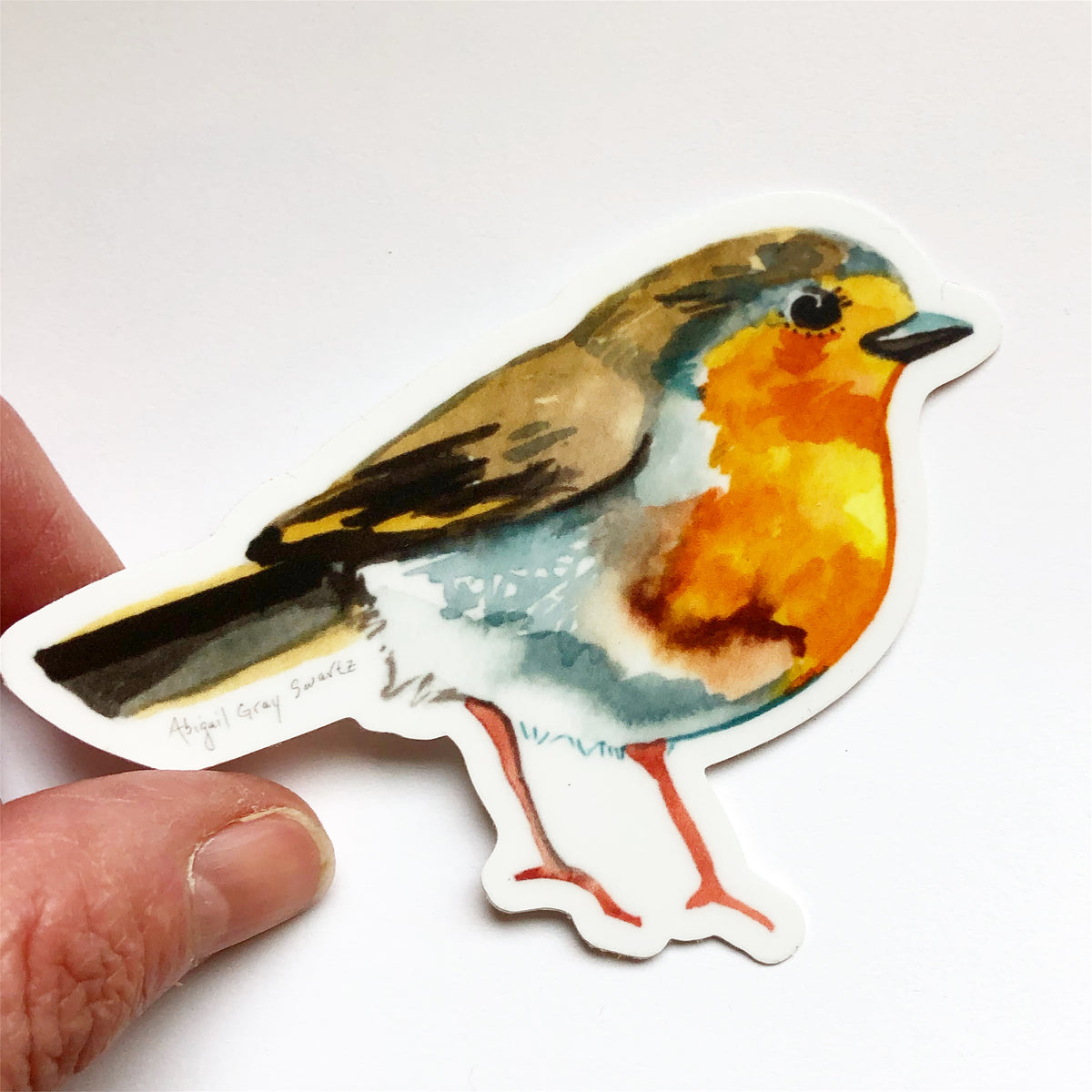 English Robin, portrait, woodland forest MAGNET - Stickers & Magnets