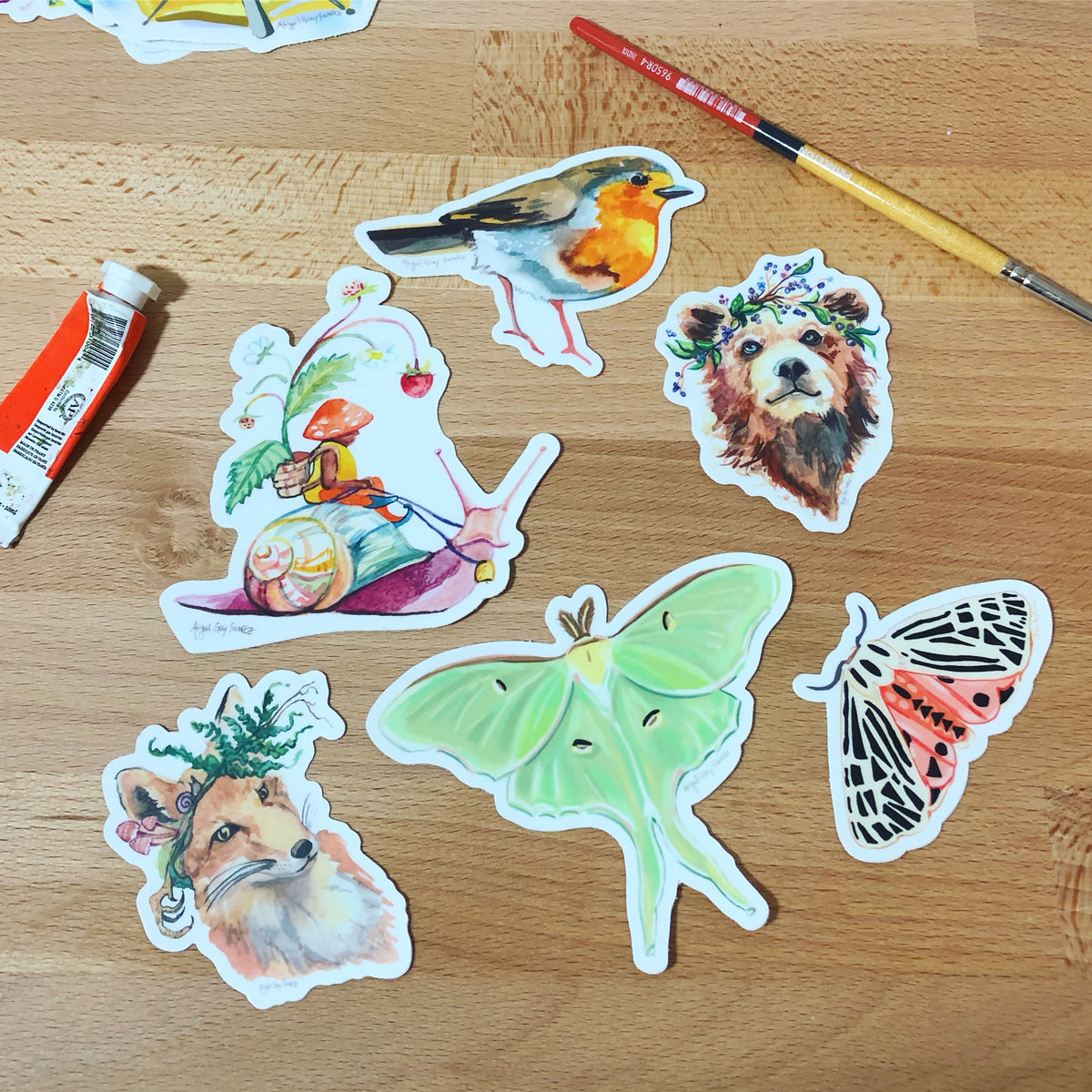 Woodland sticker Gift Bundle, 6 stickers -Gift Bundles