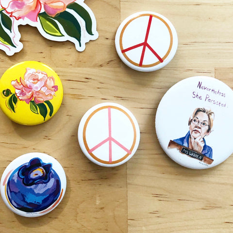 3 Portrait Stickers- Michelle Obama, Patti Smith, Nina Simone - Stickers & Magnets