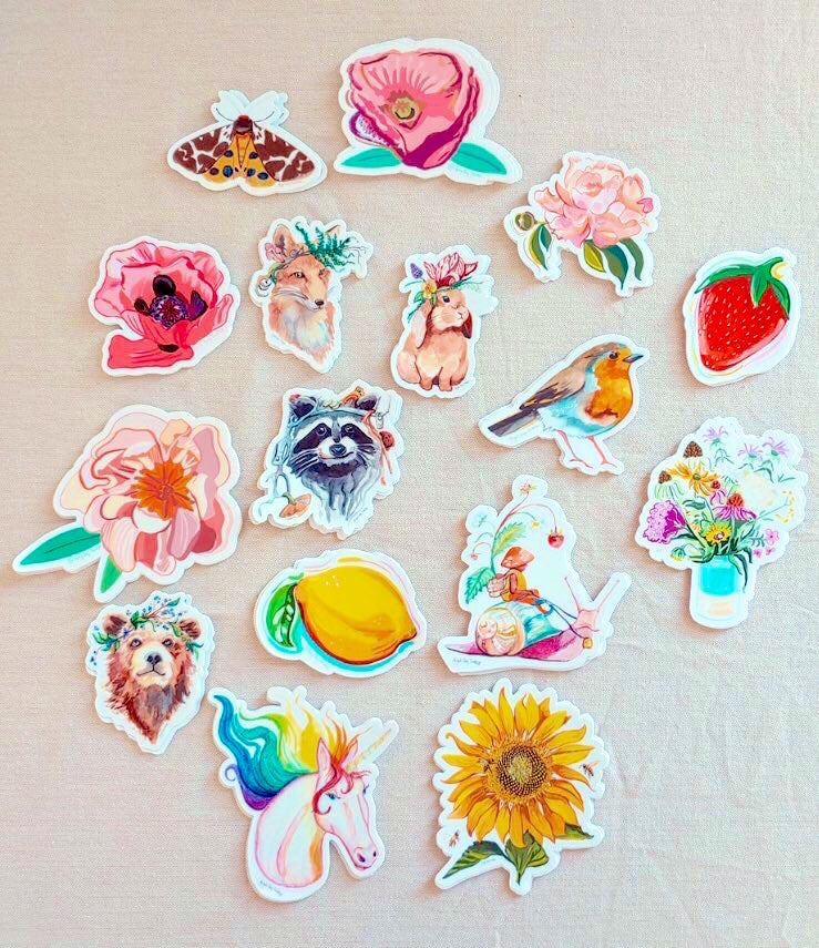 Snail Gnome, portrait, woodland forest STICKER - Stickers & Magnets
