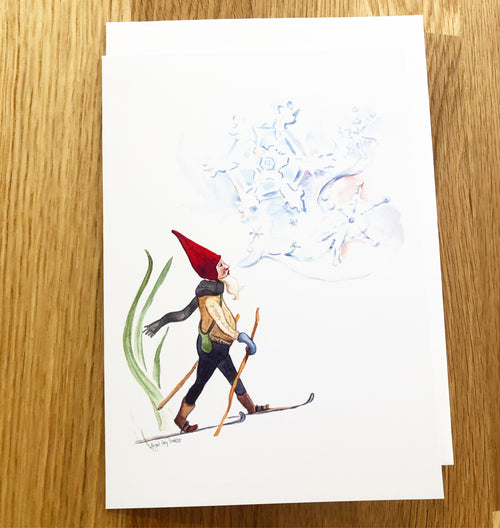Jack Frost, Winter card, Holiday greeting card