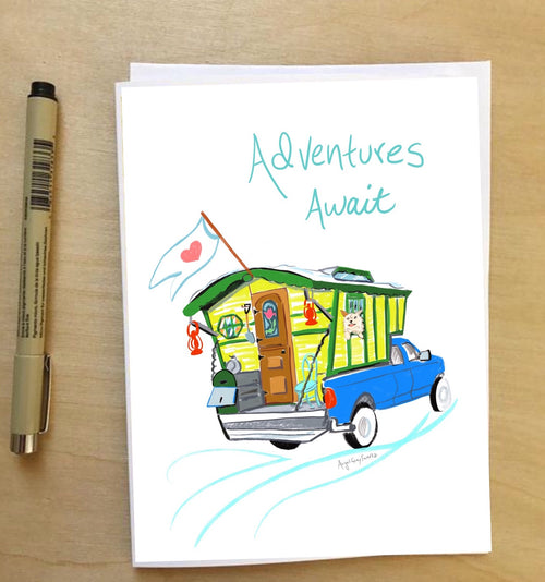 Adventures Await--Greeting Card