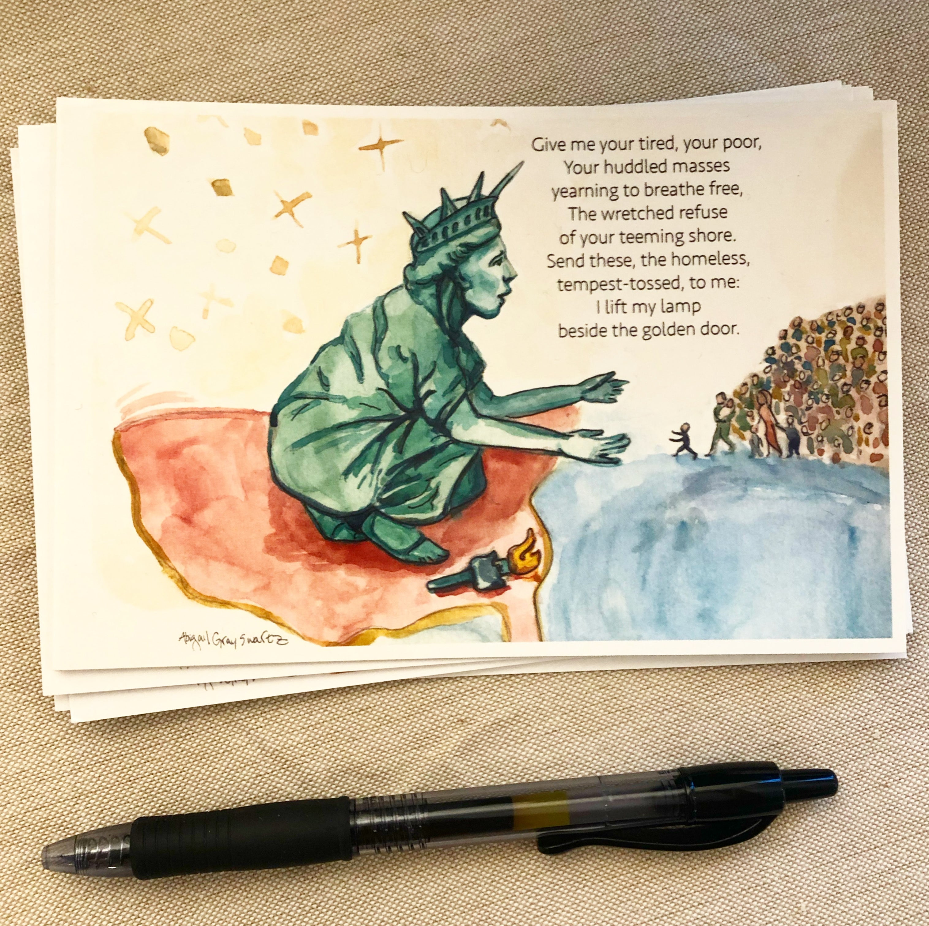 Postcard writing party package! political postcards, write your representatives--Greeting Card