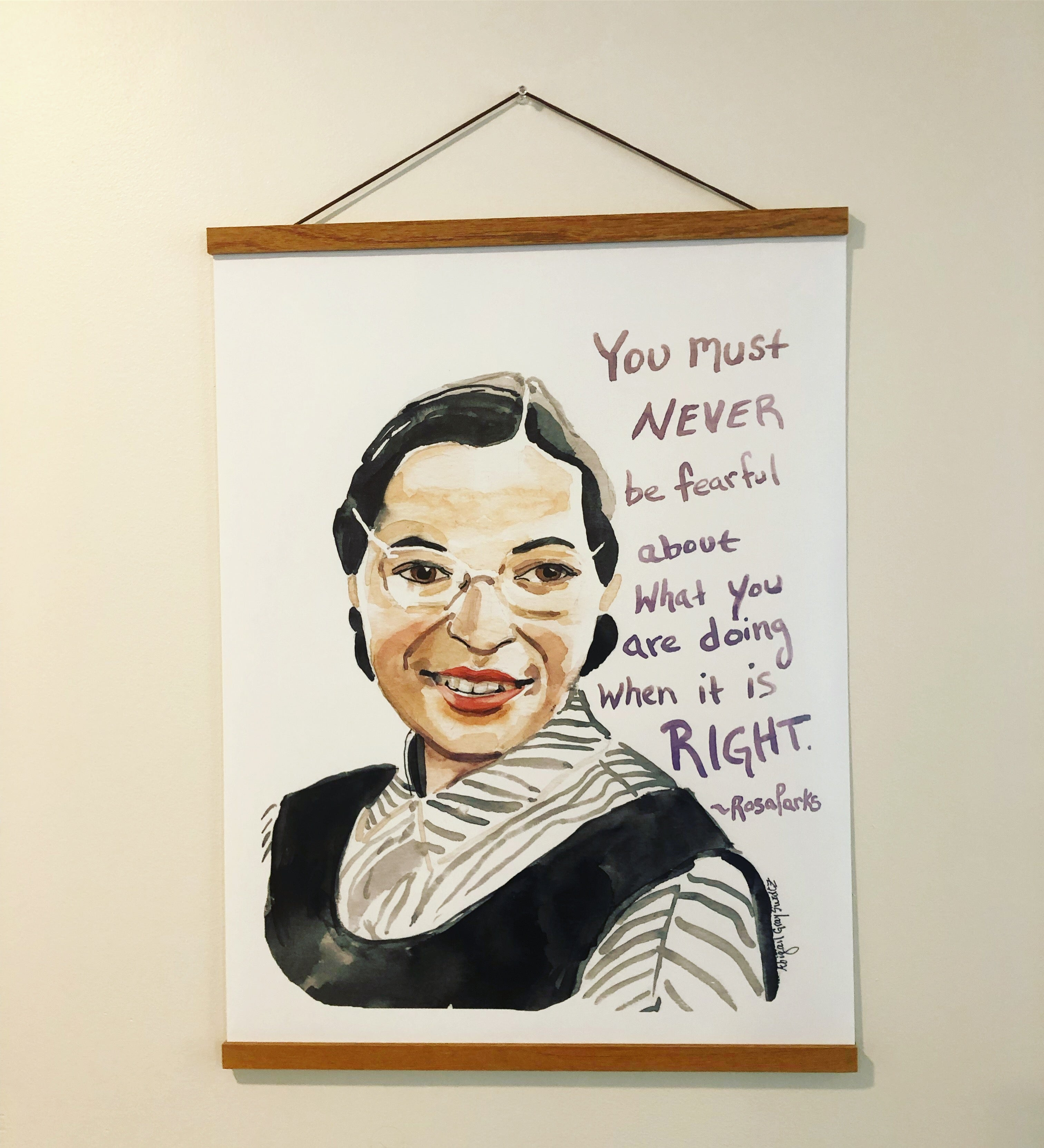 Rosa Parks, inspiring quote, large poster--Print