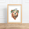 Bear in a Blueberry Crown || watercolor animal portrait--Print