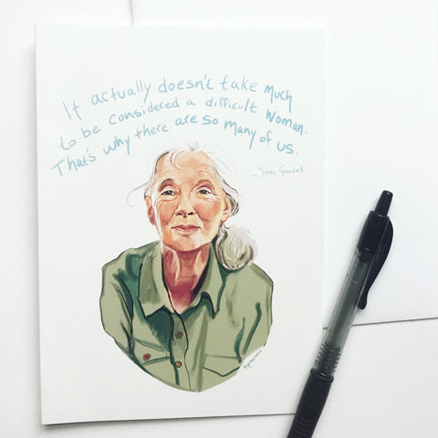 Julia Child quoted Portrait, greeting card--Greeting Card