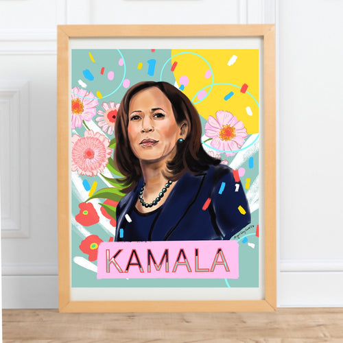 Kamala Harris, Illustrated Portrait