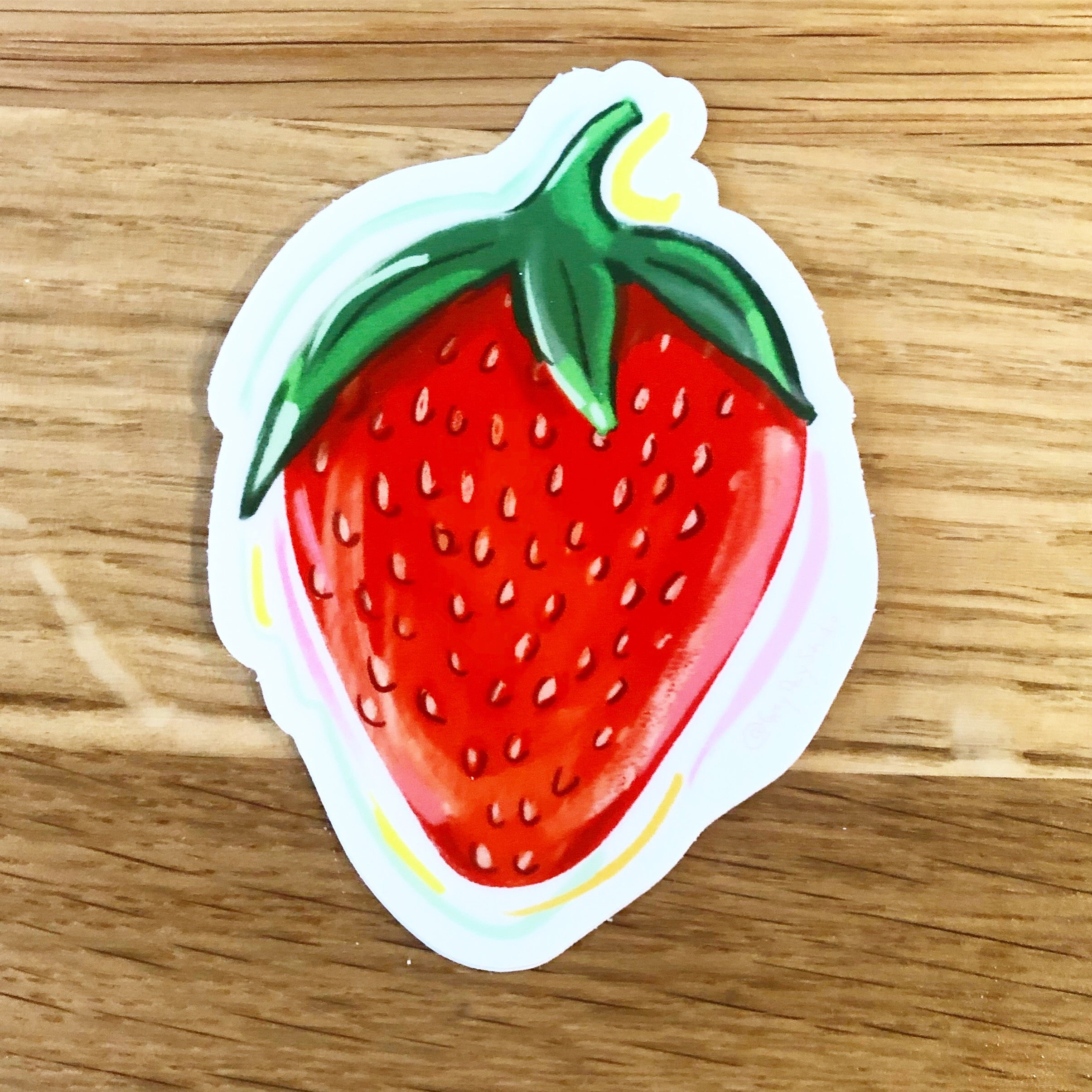 Strawberry STICKER, waterbottle, laptop decoration- Stickers & Magnets