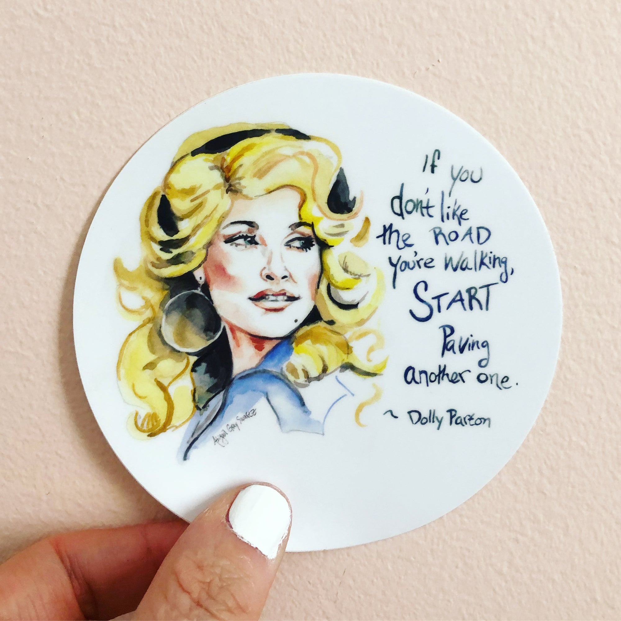 Dolly Parton Magnet portrait and inspiring quote magnet