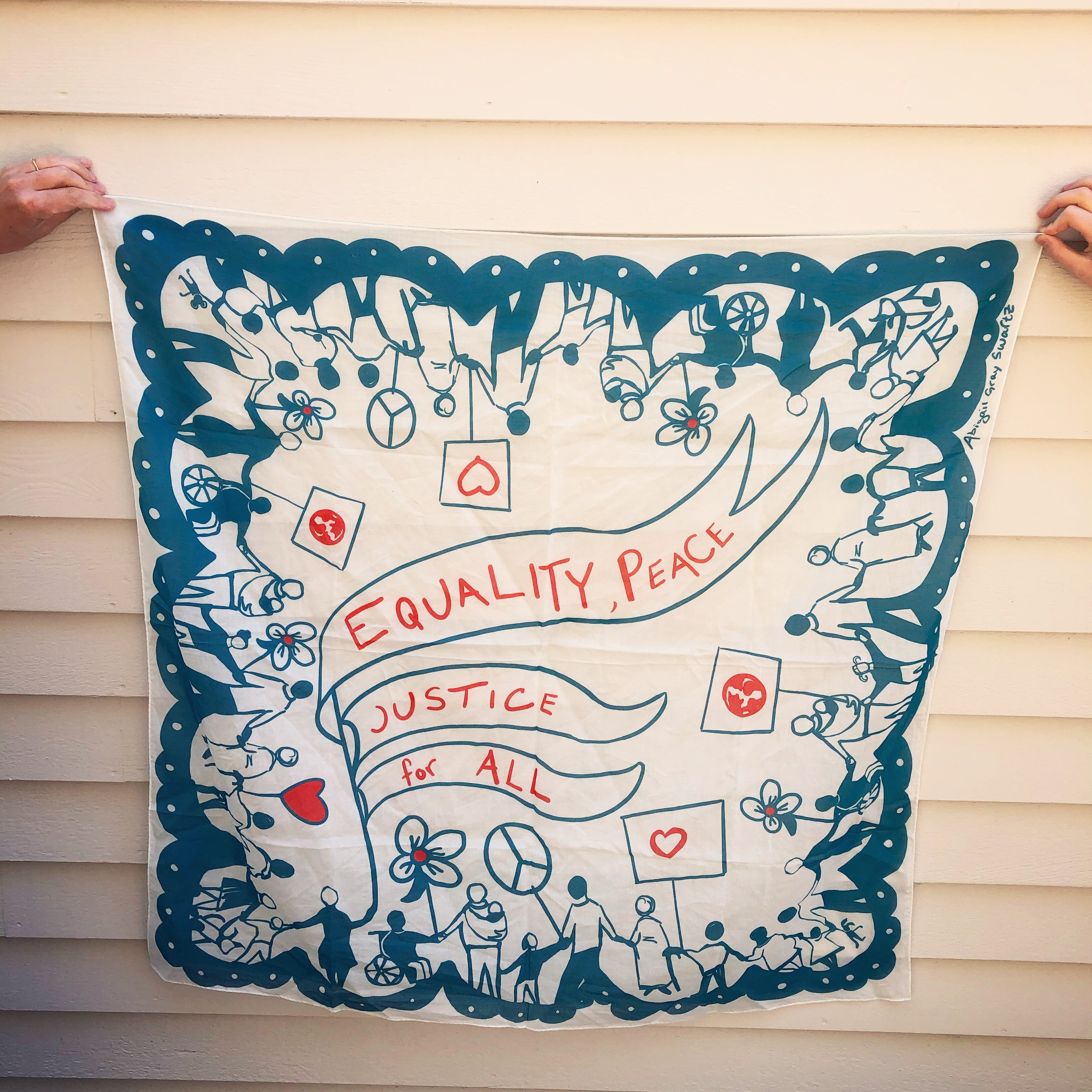 Pre-order, Equality for all! large square cotton Scarf || Scarves