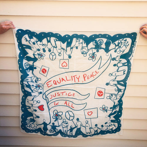 Equality for all! large square cotton Scarf || Scarves