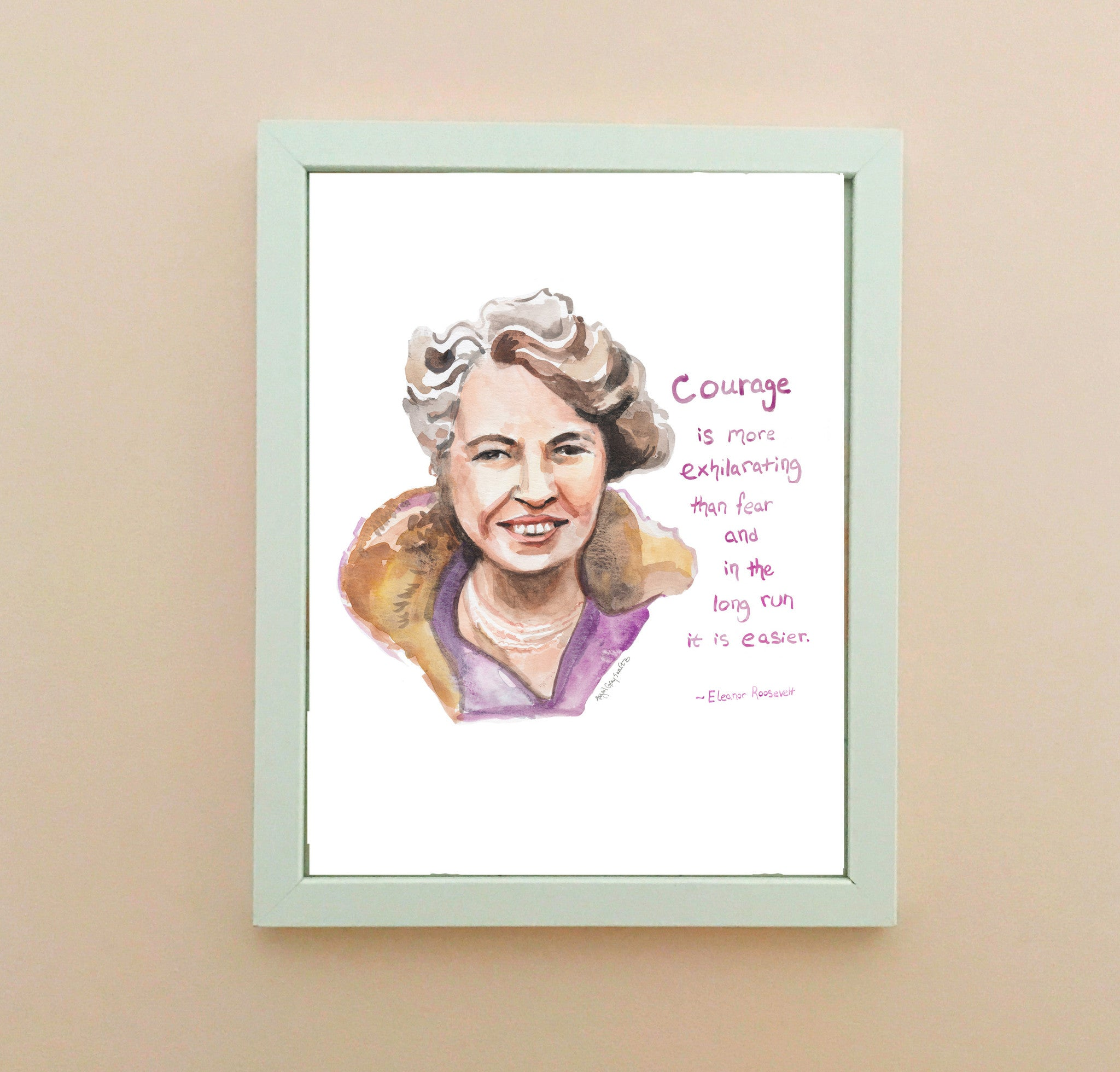 Eleanor Roosevelt Courage Quote Print Graydayshop