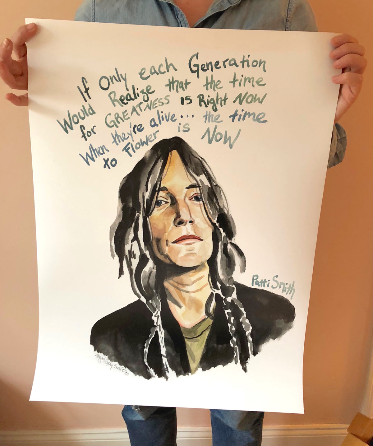 Patti Smith, inspiring quote, large poster--Print