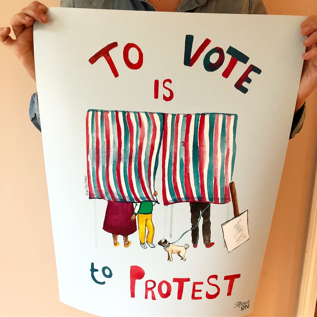 To Vote is to Protest, large poster--Print