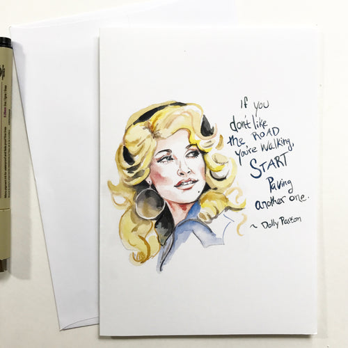 Dolly Parton--Greeting Card