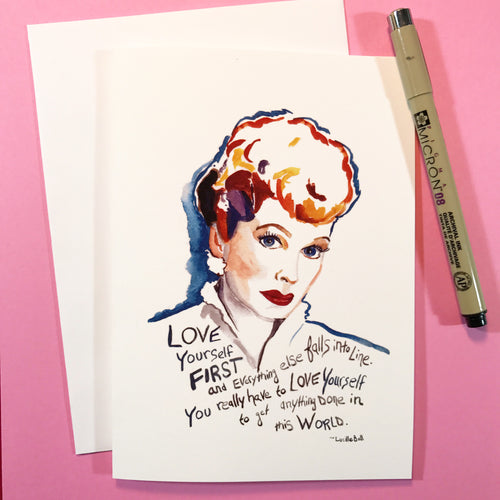 I Love Lucy--Greeting Card