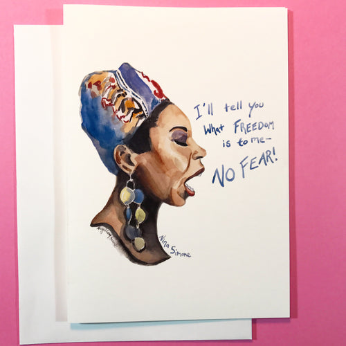 Nina Simone--Greeting Card