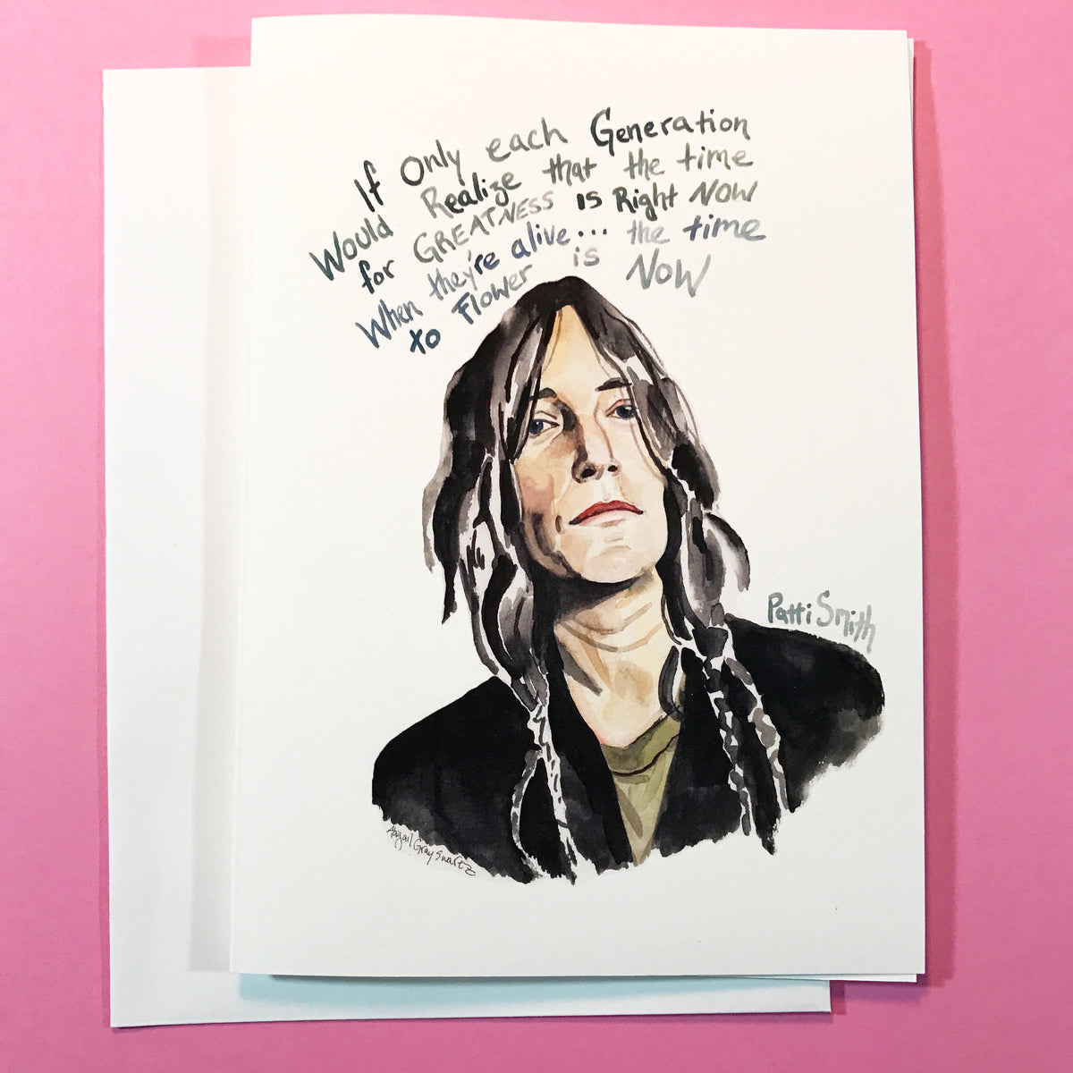 Patti Smith, Inspiring Quote greeting card