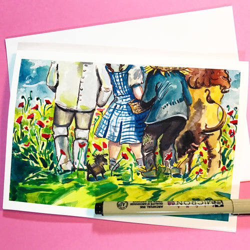 Wizard of Oz, Poppy Fields, greeting card