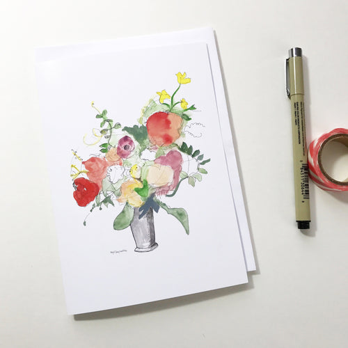 Spring Bouquet, 5x7 greeting card