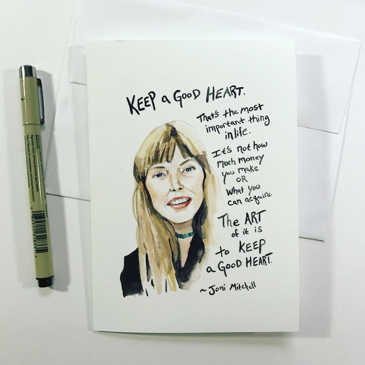 Joni Mitchell--Greeting Card