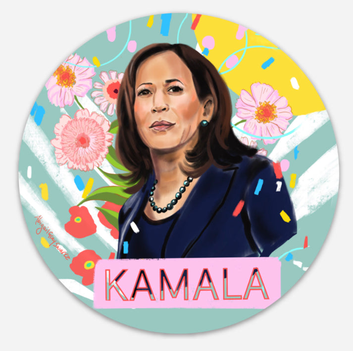 Kamala Portrait, Card--Greeting Card