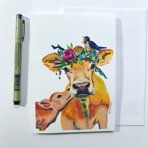 Mamma Cow--Greeting Card