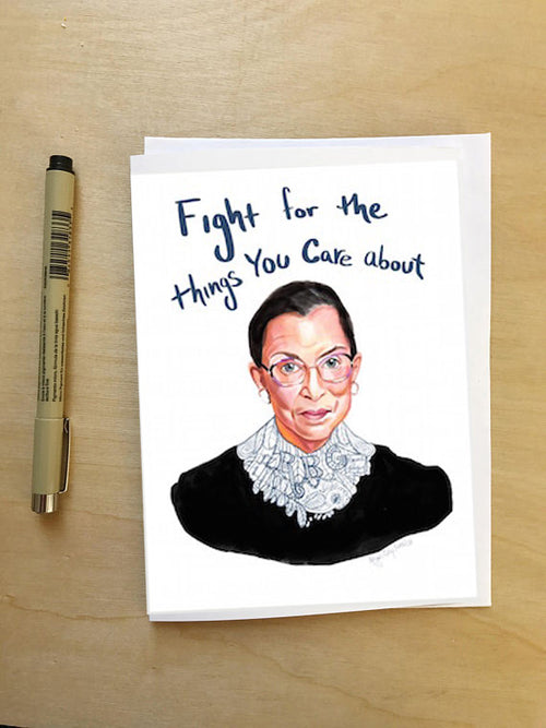RBG Portrait, Card--Greeting Card