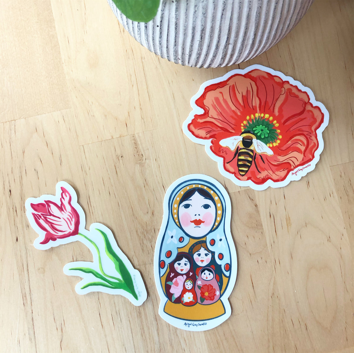 Nesting Doll Sticker, sisterhood and mothers day gift idea STICKER - Stickers & Magnets