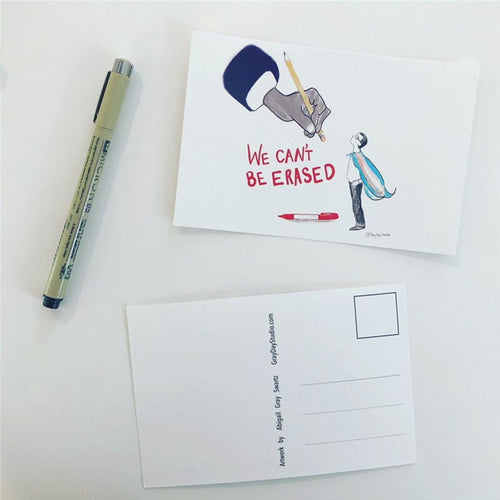 Trans Rights, political postcards, write your representatives--Greeting Card