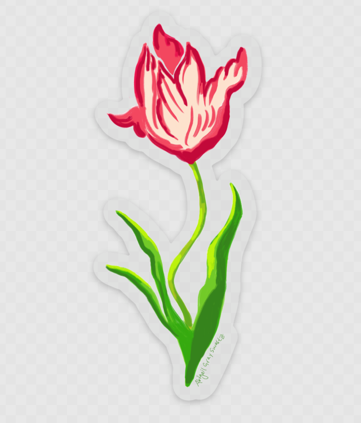 Tulip sticker, floral botanical STICKER - Stickers & Magnets