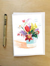 Bleeding Heart Bouquet-Greeting Card