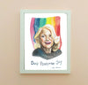 Edie Windsor || portrait & inspiring quote--Print